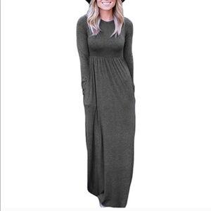 Dresses & Skirts - Long sleeve floor length stretchy t-shirt material